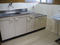 台所 ビニル床タイル張 洗面台