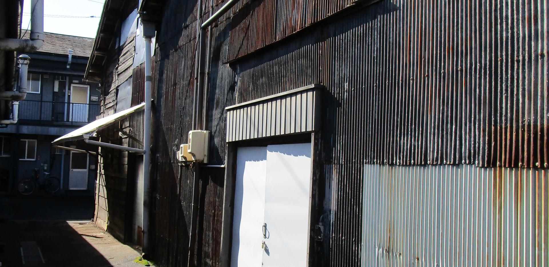 倉庫 K号室 北側方面からのビュー