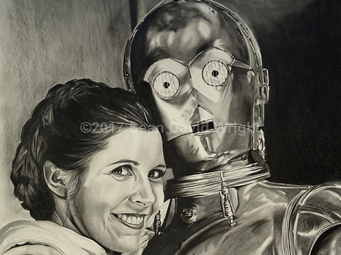 "Leia and Threepio (13"" x 19"")"