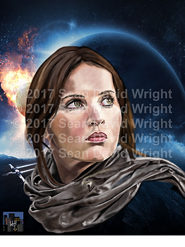 "Jyn Erso 1 Canvas (18"" x 24"")"