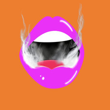 Lips with Smoke