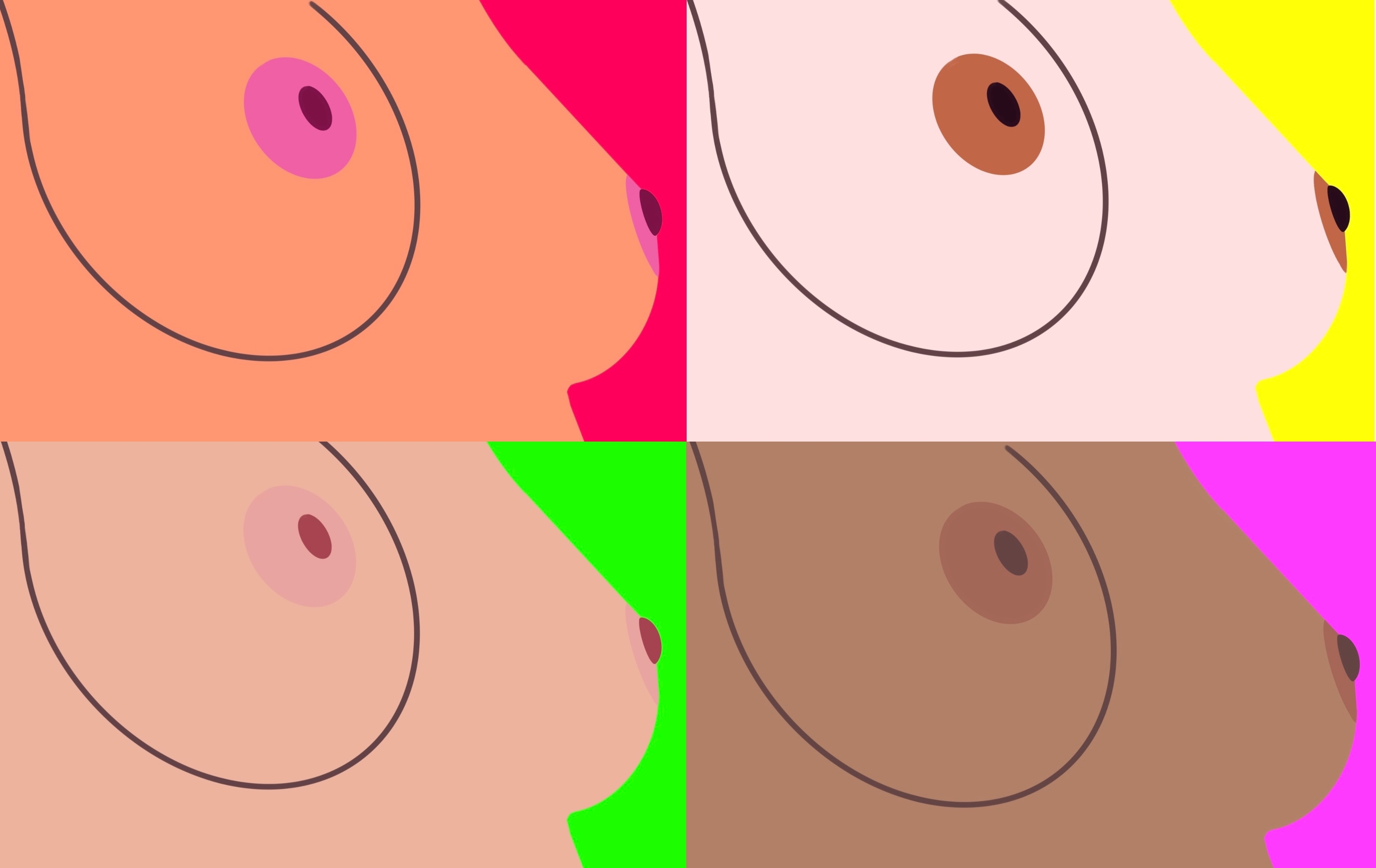 Pop Breasts Collage