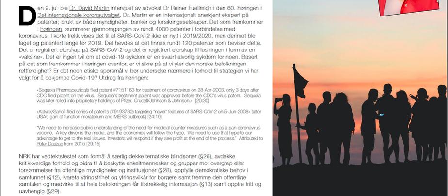 NRK bør avdekke kritikkverdige forhold (Åpent brev til NRK 13. juli 2021)