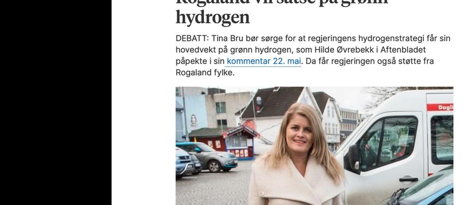 Rogaland vil satse på grønn hydrogen