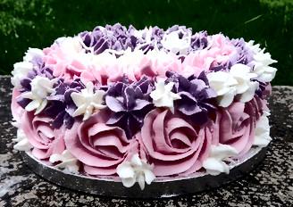 Dairy and gluten free 40th Birthday Cake