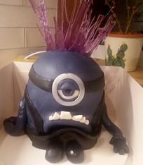 Mad minion 3D cake
