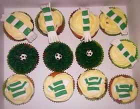 Hibs football cupcakes
