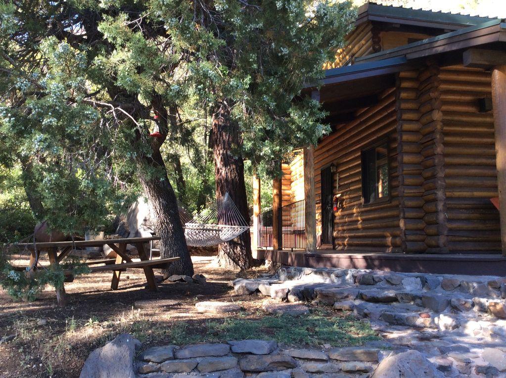 ascension cabin porch