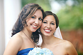 Bride and Maid of Honor Hair and Makeup