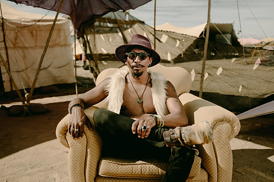 "Sujan Varma aka ""Suji"" at Afrikaburn 2018, Karoo, South Africa"