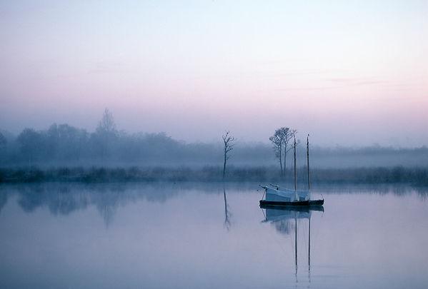 boats on broad, norfolk wildlife, ranworth, norfolk, marshland, sunset, Mark Cator