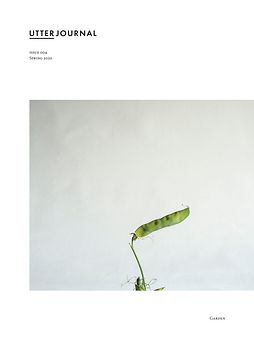 utter journal, photobook, Mark Cator, garden, nature