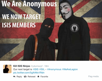 Anonymous Promises to Hack ISIS