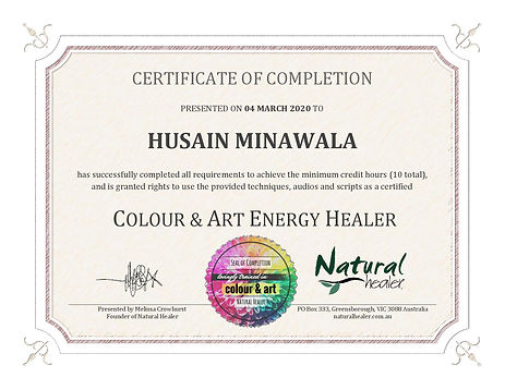 Energy Healing Colour & Art Certificate