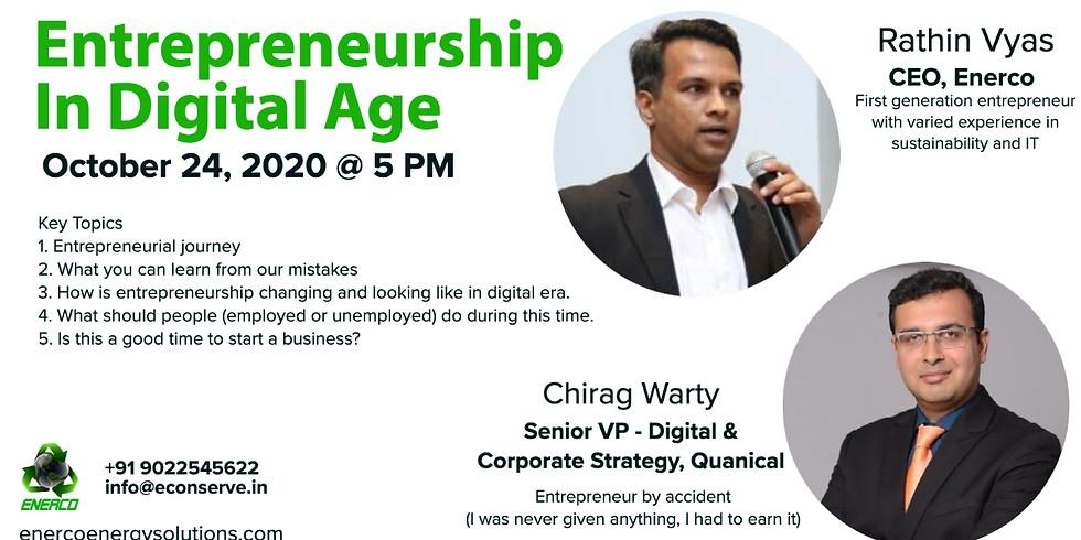 Entrepreneurship in Digital Age (Sat, 24th Oct @ 05.00 PM)