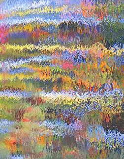 "Ed Siarkowicz Impressionistic Water Reflections ""Melting Pot,"" Malacompra, Hammock, Florida"