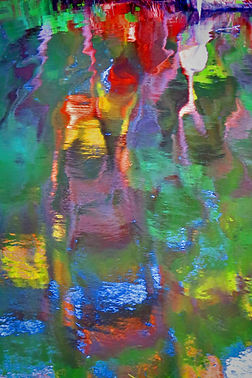 """Ed Siarkowicz Impressionistic Water Reflections """"The Master's Pallette,"""" Bull Creek, St. Johns Park, Florida"""