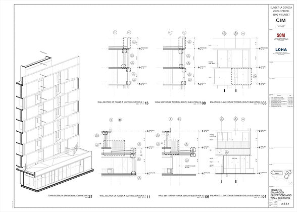 A-5-3-1 - TOWER A ENLARGED ELEVATIONS AN