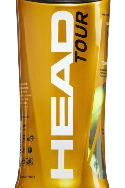 Head Tour Tennis Balls - Tube of 3 balls