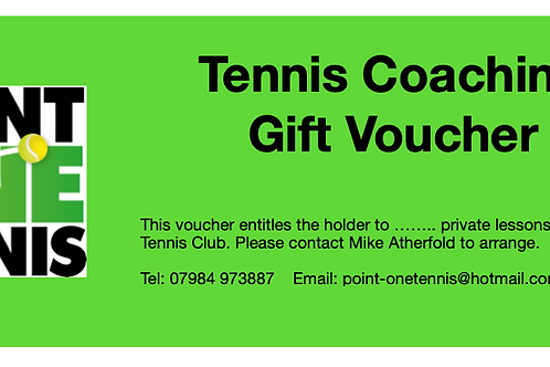 LEARN HOW TO PLAY TENNIS GIFT VOUCHER AND RACKET! - FOR BEGINNERS