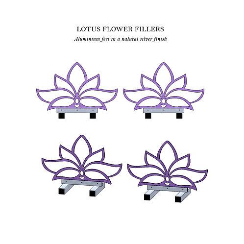 Lotus Flower Filler Pair