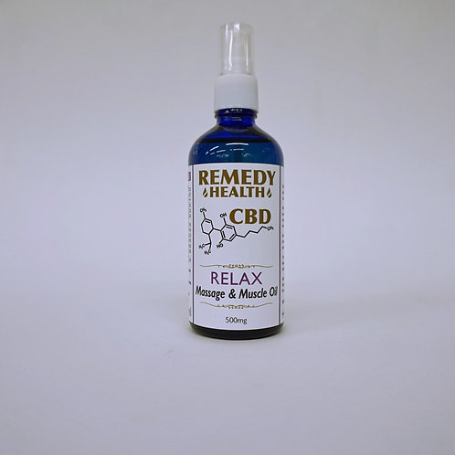 Relax Massage and Muscle CBD Oil 100ml 500mg