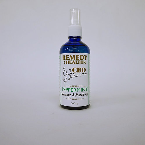 Peppermint Massage and Muscle CBD Oil 100ml 500mg