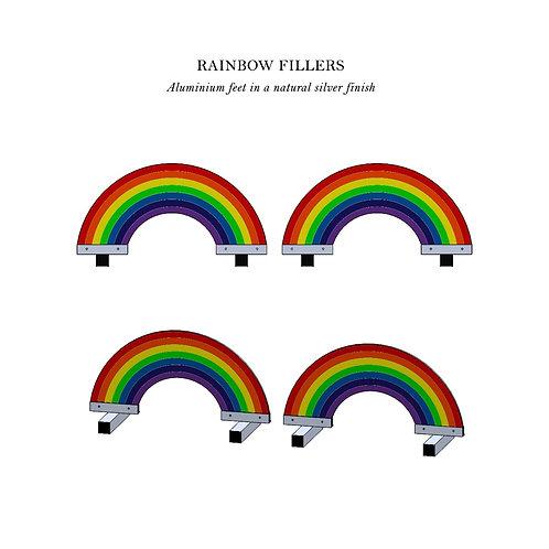 Rainbow Fillers Pair - Aluminium Feet