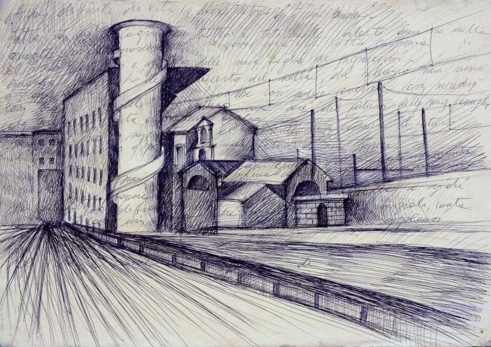 Stazione Termini inchiostro su carta 2013