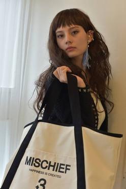 3WAY リボンデザインキャンバスバッグ