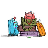 12762990-illustration-de-bagages-coloree