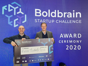 Winners at Switzerland's Boldbrain 2020 Start-UP Challenge