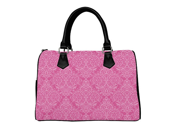 Fairlings Delight's Luxury Glam Collection- Pink Damask  Boston Handbag 53086