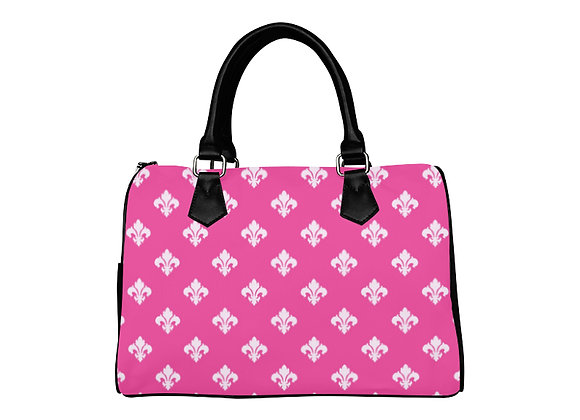 Fairlings Delight's Luxury Glam Collection- Pink Damask 53086a Boston Handbag