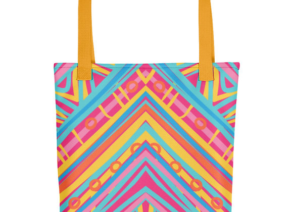 Fairlings Delight's African Prints Collection- Pink Sunset Beach Bag 53086