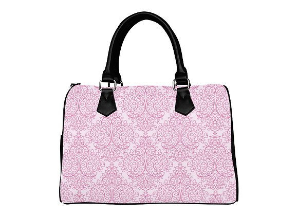 Fairlings Delight's Luxury Glam Collection- Pink Damask 53086a1 Boston Handbag