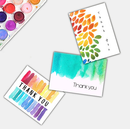 Thank You- card pack, set of 6.
