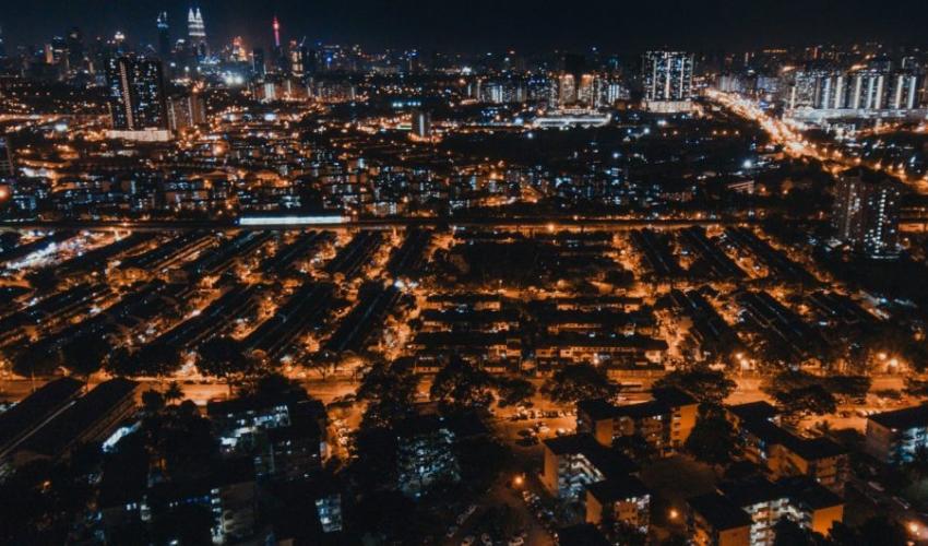 wangsa maju night view, lights