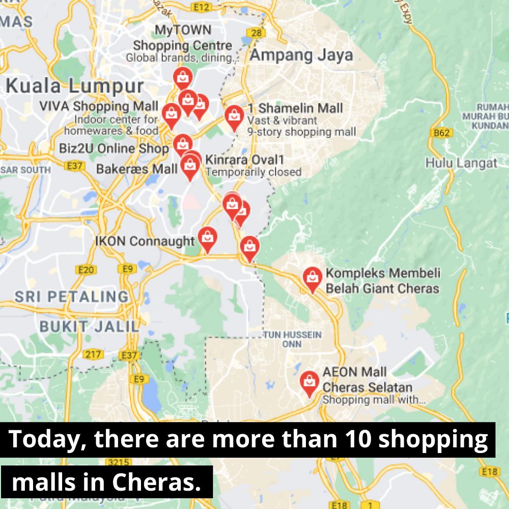 shopping malls in cheras