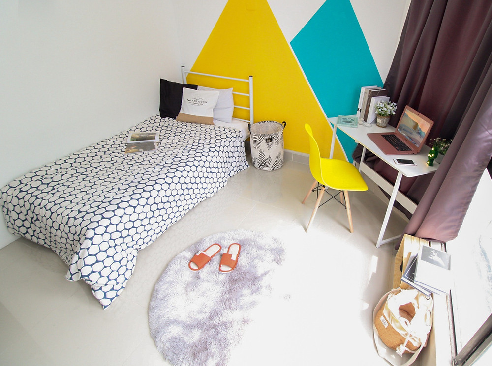 white, clean, minimalistic, stunning, cheap, aesthetic affordable rooms for rent in kuala lumpur, KL, malaysia by utopia co-living, room rental, renting in KL, save money by renting