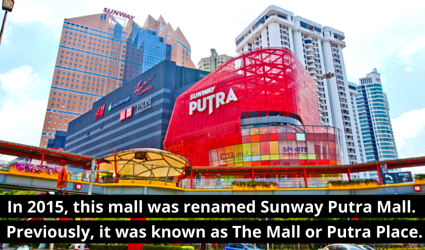 sunway putra mall, putra place, the mall in KL, red building