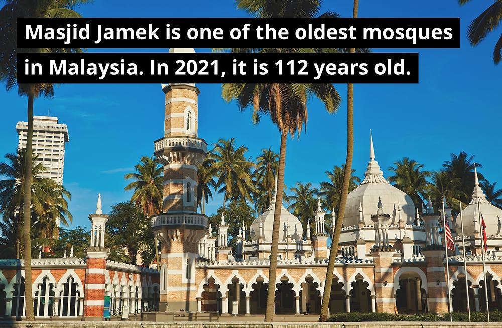 Masjid Jamek in Kuala Lumpur Malaysia, oldest mosque in Malaysia, great architecture building, famous landmark in KL