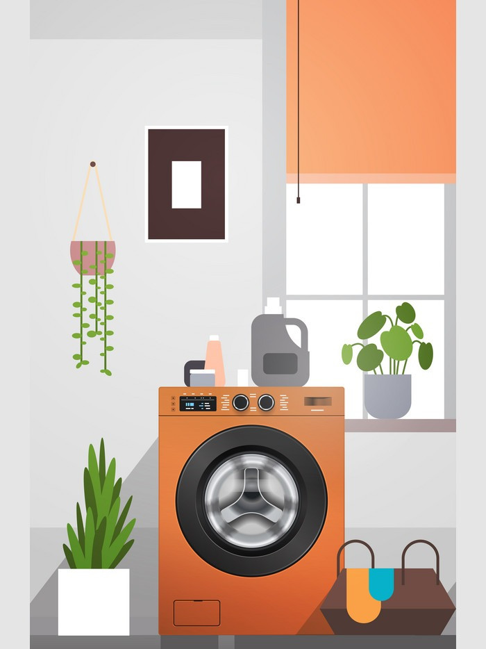 laundry, washing machine, clean, white, aesthetic, wash clothes, dry, detergent, plants in house, washing machine in house, room, laundry basket
