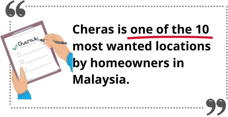 cheras good location to buy and rent malaysia, note, write, checklist