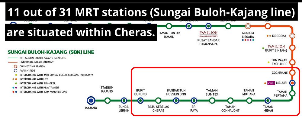 MRT Sungai Buloh - Kajang in Cheras