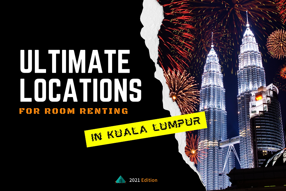 ultimate locations for room renting in kuala lumpur, most strategic, best locations to rent and find room to stay cheap affordable room