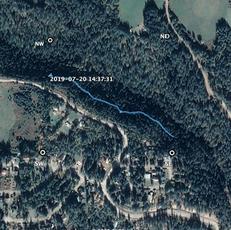 GPS Old Meadow Creek Road