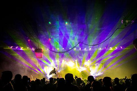 Park City Ski Resort Entertainment Laser Show