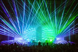 Xfinity Theatre Concert Laser Light Show