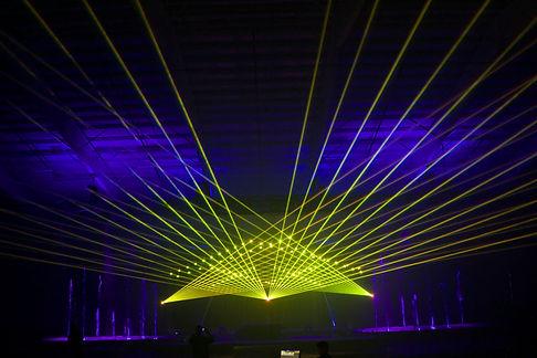 Delmar Hall Concert Laser Light Show St louis